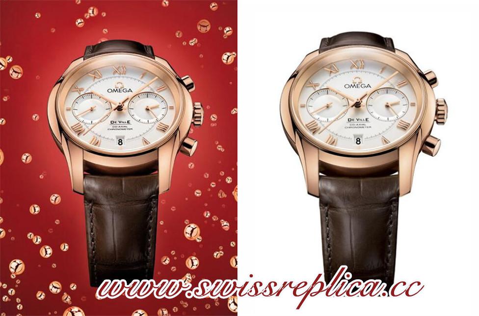 Christmas Gentleman's Watch-Omega De Ville Replica Chronograph